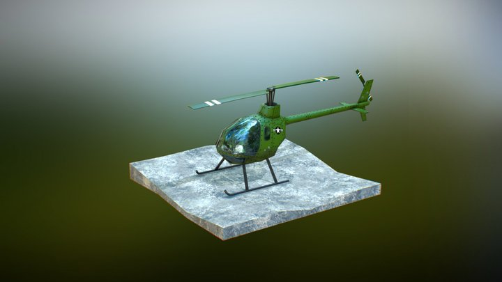 Helicopter - Animation Test 3D Model