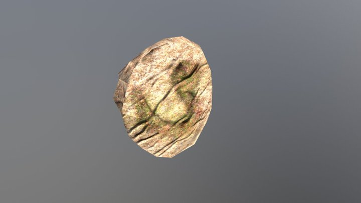 Jurassic Fossil Low Poly 3D Model