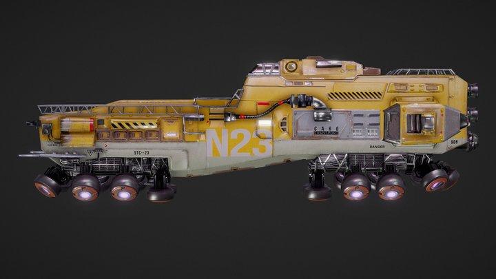 Space Train 3D Model