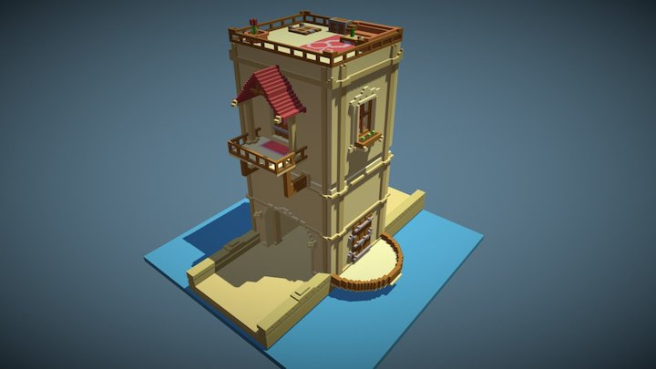 Voxel tower 3D Model