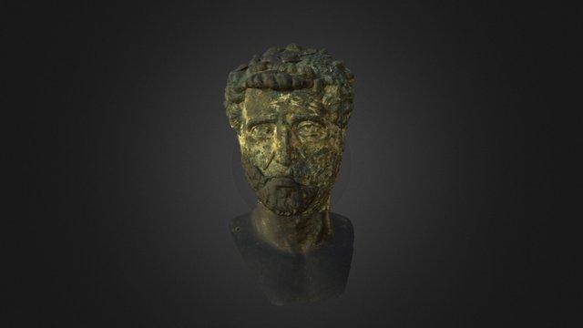 Antonino Pio: golden bronze head 3D Model