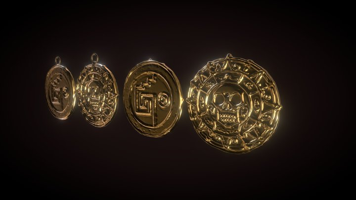 "Coin, coin medallion ""pirates of the Caribbean"" 3D Model"