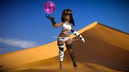 Mummy Girl Cartoon 3D Model
