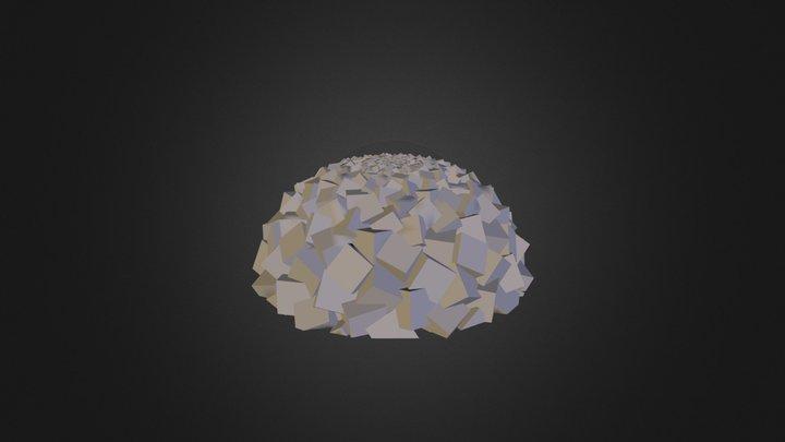 Fib Hemisphere Rotating Cubes V1 1 3D Model