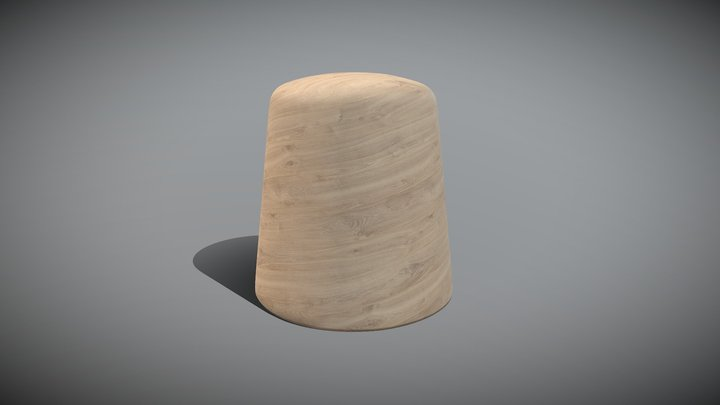 MudMud Tribal Art Wood Bottom 3D Model