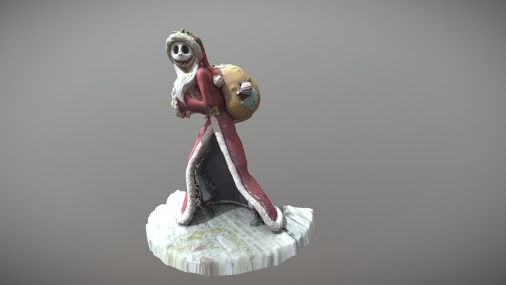 Santa Jack Skellington 3D Model