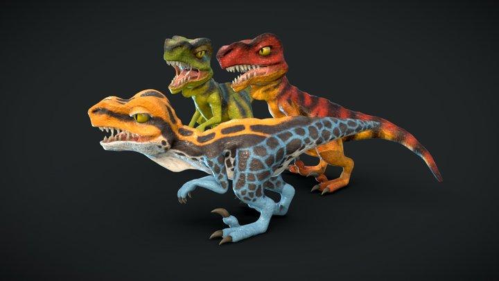 Velociraptor Pack 3D Model