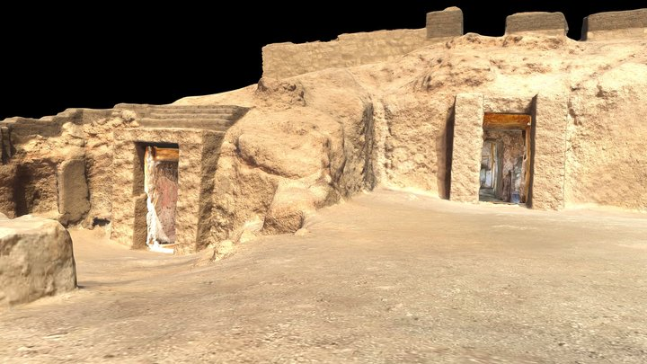 Theban Tombs 159 and 286 3D Model