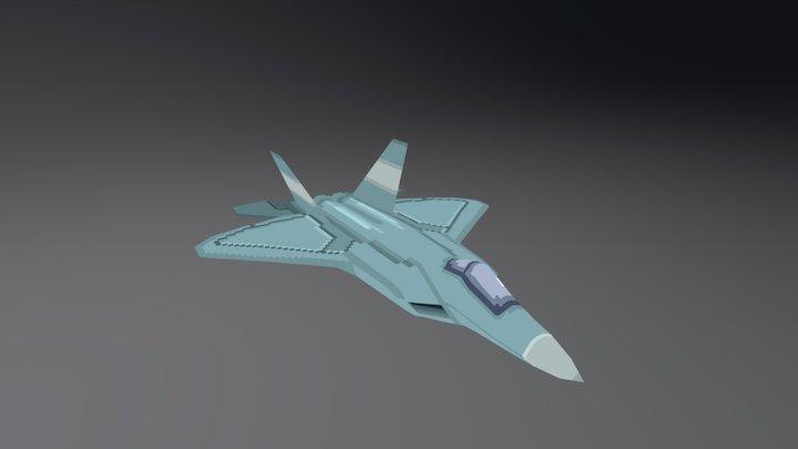 Pixel Jet 3D Model
