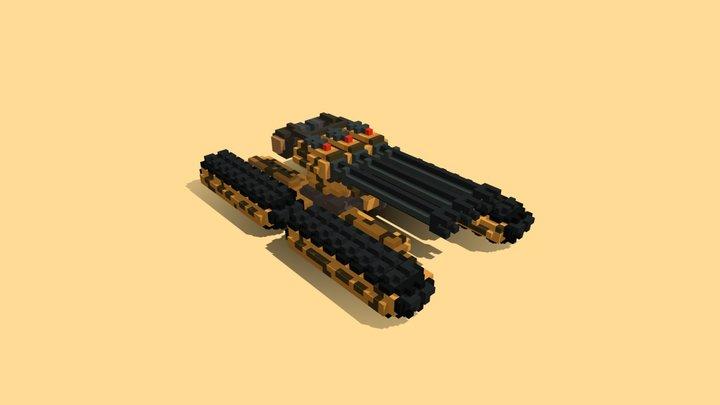 Yellow Quad Tank 3D Model