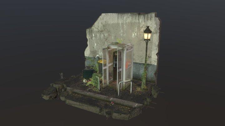 Abandonned Phone Box 3D Model