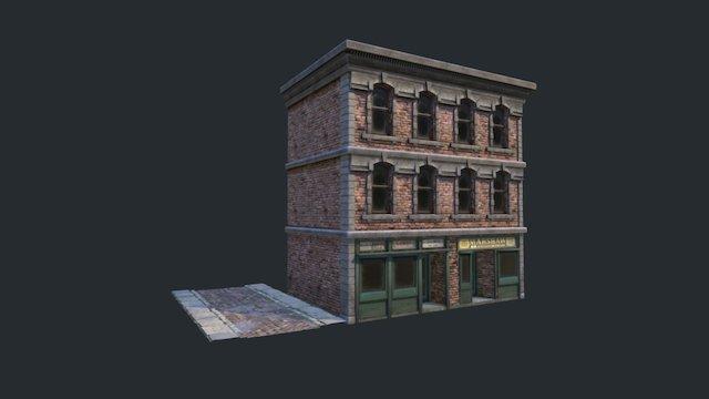 Street Stores 3D Model