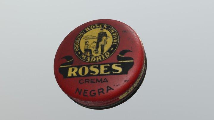 Caja de crema Roses negra 3D Model