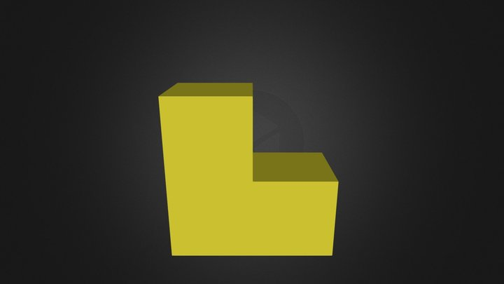 Yellow Puzzle Piece 3D Model