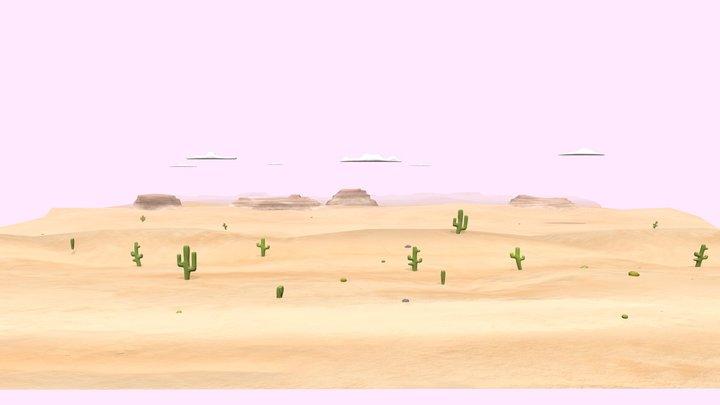 desert tile set 3D Model