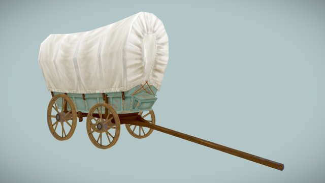 Prairie Wagon 3D Model