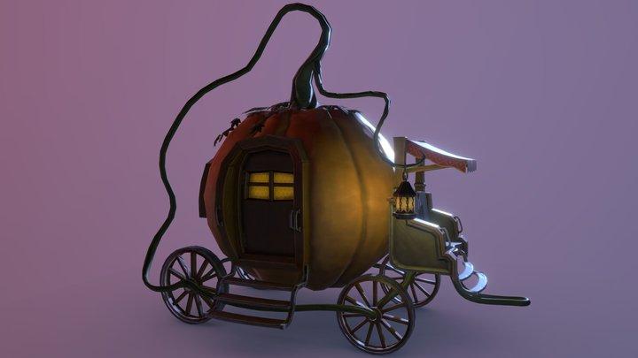 Pumpkin Carriage 3D Model