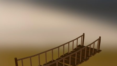 Rope Bridge 3D Model