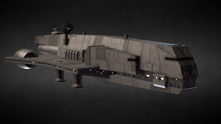 Star Wars: Gozanti-Class Cruiser 3D Model