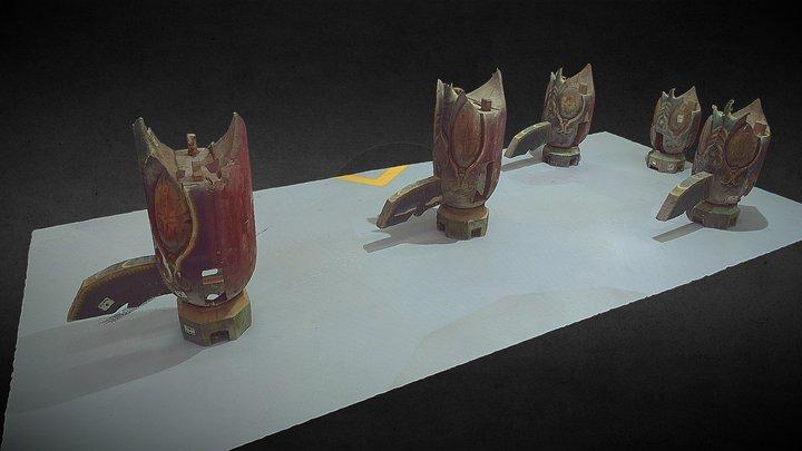 木構造組件_#3。3D面模 3D Model