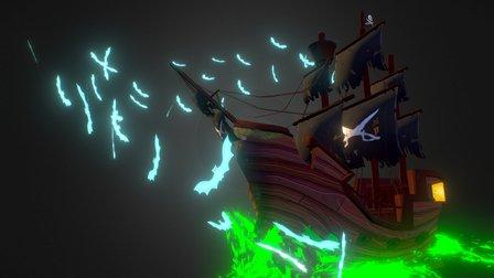 Handpainted Ghost ship! 3D Model