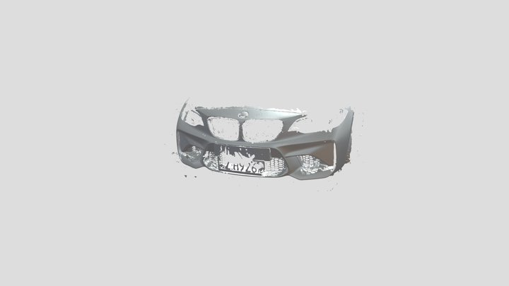 Bmw M2 Front Bumper 3D Model