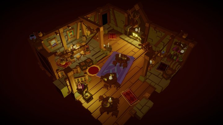 Cozy Tavern - First Floor 3D Model