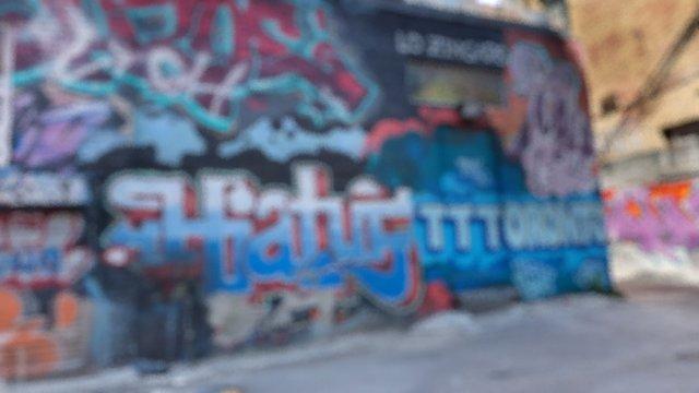 Graffiti Alley 001 3D Model