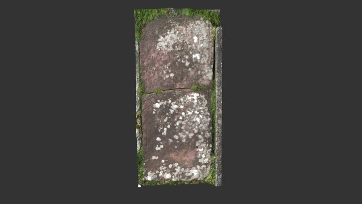 Kildavnet Graveyard, Achill Island, Ledger Slab 3D Model