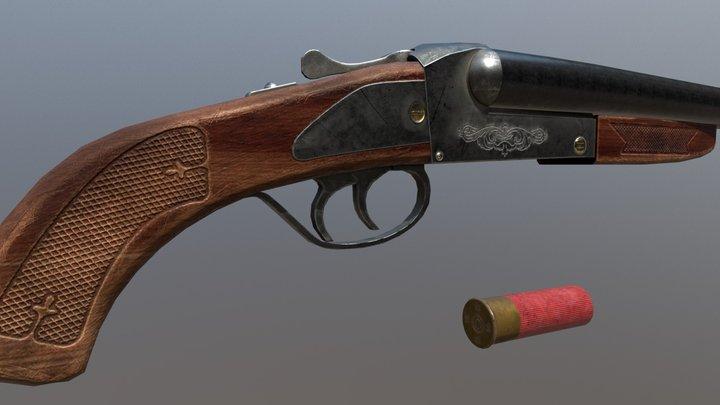 Shotgun Lupara 3D Model