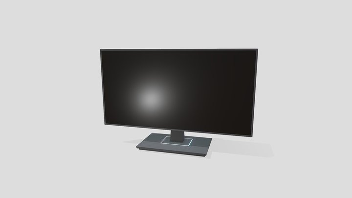 Office Monitor / Workstation Monitor 3D Model