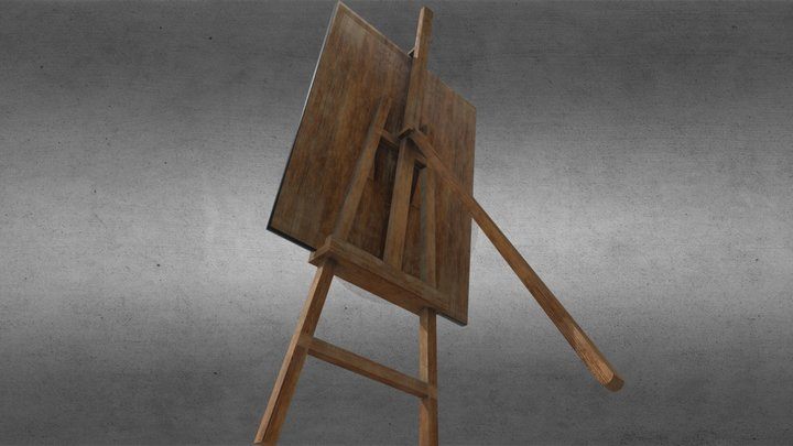 Easel Low Poly 3D Model