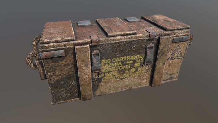 Old Ammo Crate 3D Model