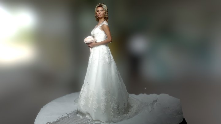 Girl. Just married. 3D Model