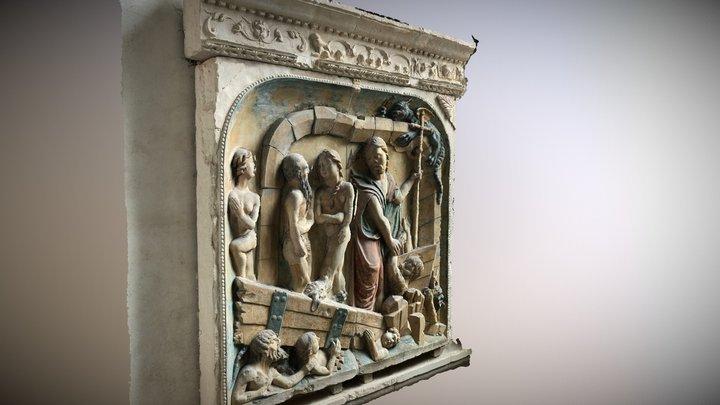 Bas relief - Abbatiale du Mont StMichel 3D Model