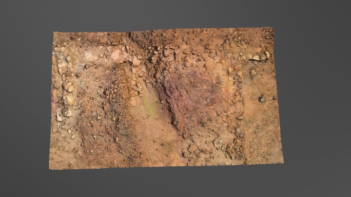 3D Ancient Roman Mining Workshop Soil 3D Model