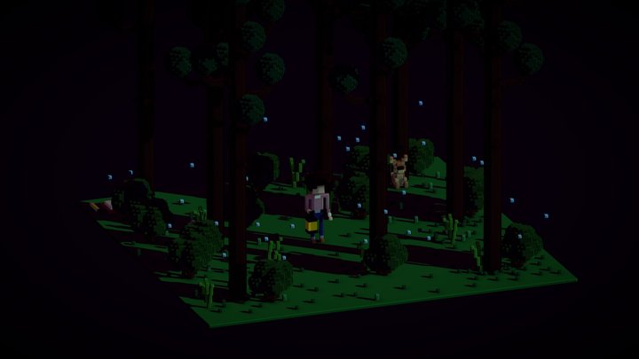 Forest Night 3D Model