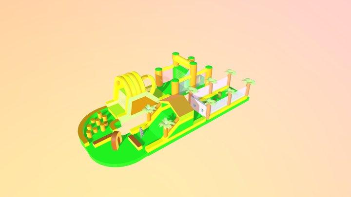 Mega Jungle Stormbaan 44m 3D Model