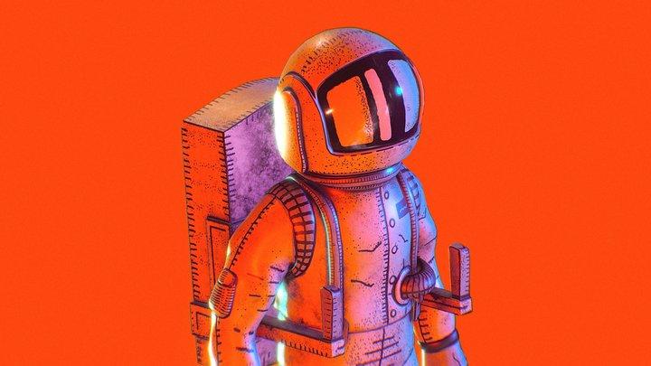 Astronaut - Starman 3D Model