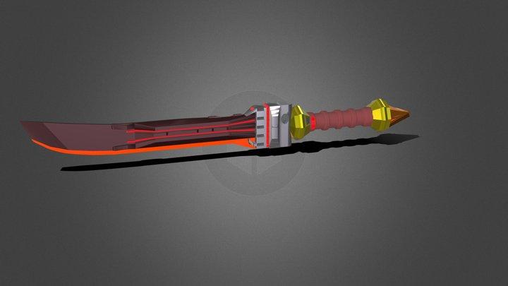 Sci-Fi Swords 3D Model