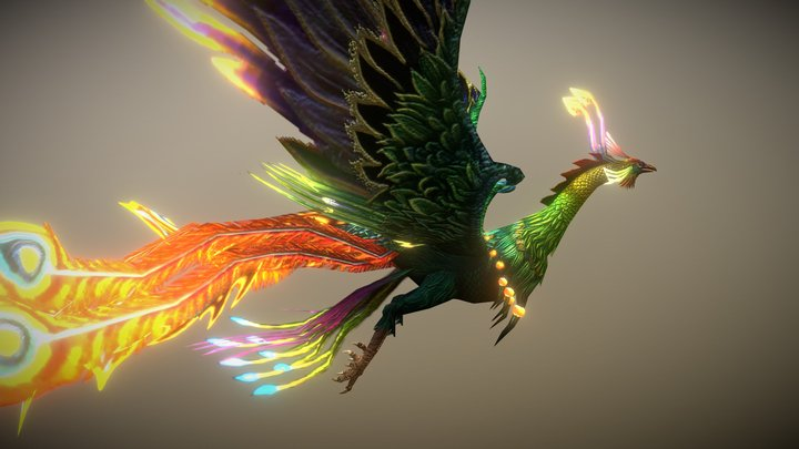 Real-time Bones Demo: Phoenix Bird 3D Model