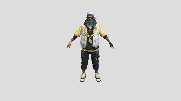 3d model free fire tren fashion bundle 3D Model