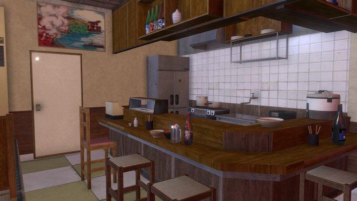 """Shouwa izakaya "" 80's pub 01 3D Model"