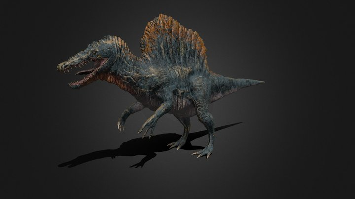 Male Spinosaurus 3D Model