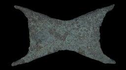 """""""Ox-hide"""" copper ingot, Carmel Coast, Israel. 3D Model"""