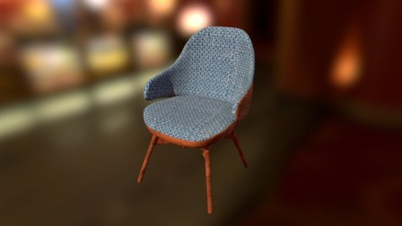 Rounded Chair 3D Model