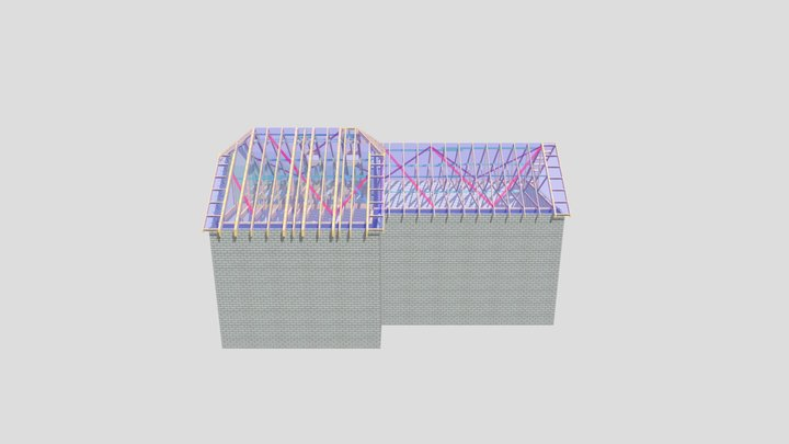 P12322F-Stamco-Leigh Services-Unit 6-7 Trusses 3D Model