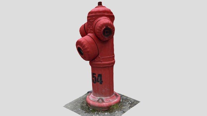 Fire Hydrant Bayard Photogrammetry 3D Model
