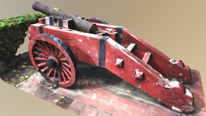 淡水紅毛城清代鐵炮 3D Model
