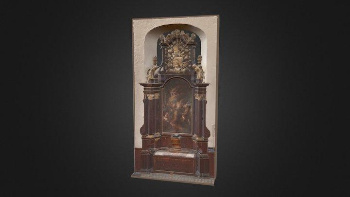 Bočný oltár sv. Fidela (pred reštaurovaním) 3D Model